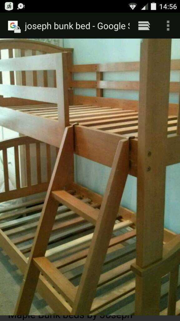 Joseph Maple Bunk Beds 2 Single Beds In Chatham Kent Gumtree
