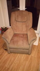 Riser/Recliner Chair with Dual Motor - as new.