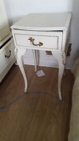 Antigue bedside table