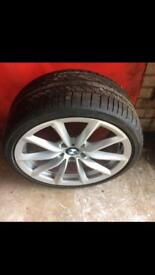"""Genuine BMW 19"""" alloys and tyres"""