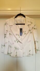 New with tags Precis Petite Silk & Linen Jacket size 12
