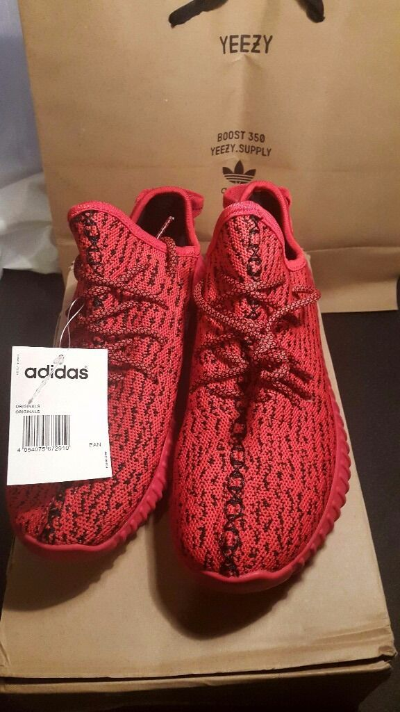 Custom Yeezy Boost 350 size 8 Red October  53d40e7857c2