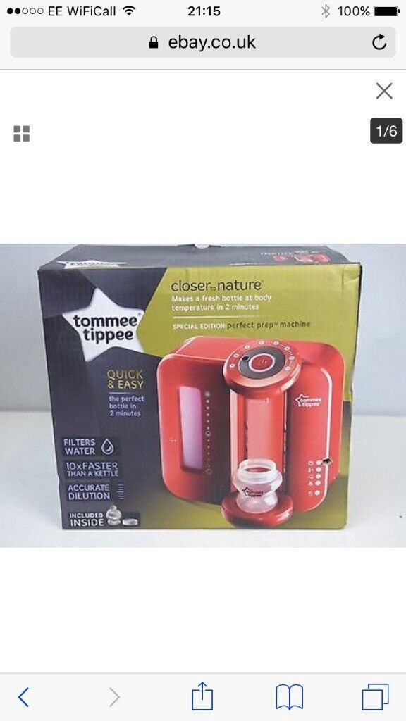Tommy tippee red bottle maker