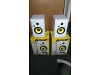 New KRK Rokit 5 RP G3 White nearfield monitors with 5 year extended warranty