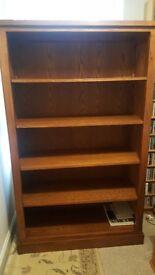 Solid Elm Shelving unit / book case