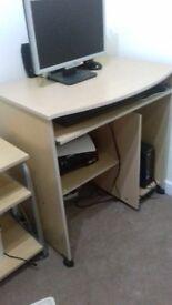 Beech computer desk