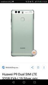 Silver 32GB huawei p9
