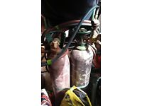 Oxy acetylene kit and cutting torches