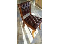 Two mahogany chairs