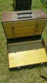 Vintage tool makers cabinet..