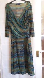 Multi-coloured Striped Dress - Size 14