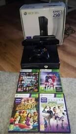 Boxed XBOX 360 Kinect 250GB & games