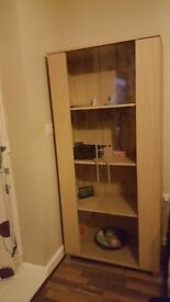 Beech shelf unit
