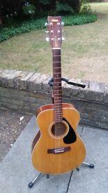Yamaha FG-331 (folk size) vintage steel string acoustic guitar (excellent tone - see video demo!)