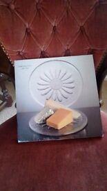 Dartington crystal cheese platter