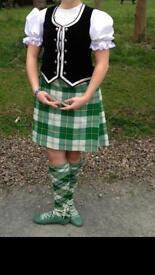Full highland dance kilt outfit