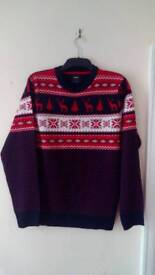 New Men's Burton Christmas jumper