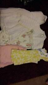 Mixed baby girl's clothes, 0-3 months
