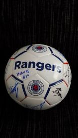 Autographed Rangers Football