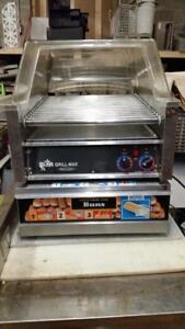 Commercial Hot Dog Roller - Hot Dog Cooker Machine and Bun Warmer