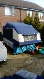 Conway crusader folding camper, fridge freezer, toilet, awning etc