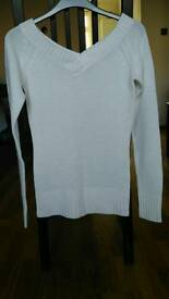 White sweater, size S