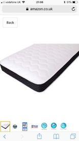 x2 single sprung memory foam mattress'