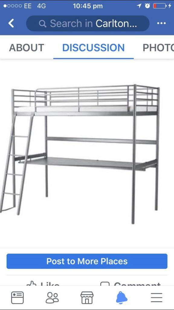 Desk with single bed
