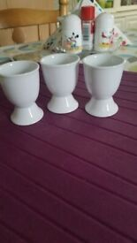 White porcelain egg cup x3 £1.5