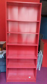 Very nice red bookshelf