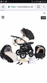 zippy pram baby merc 3 in 1 travel system