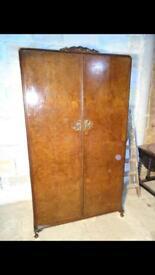 Large vintage wardrobe, see pics for large interior storage