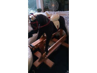 Very Large 4ft Tall Rocking Horse Antique Style