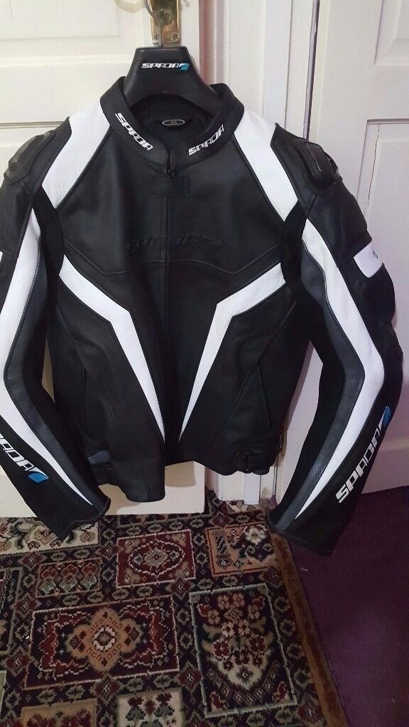 spaoa leather motorbike jacket