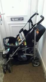 Tandem double buggy/pushchair/pram