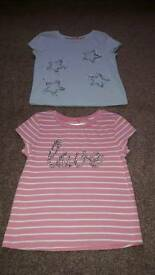 Brand new girls m and co the shirts age 2 to 3