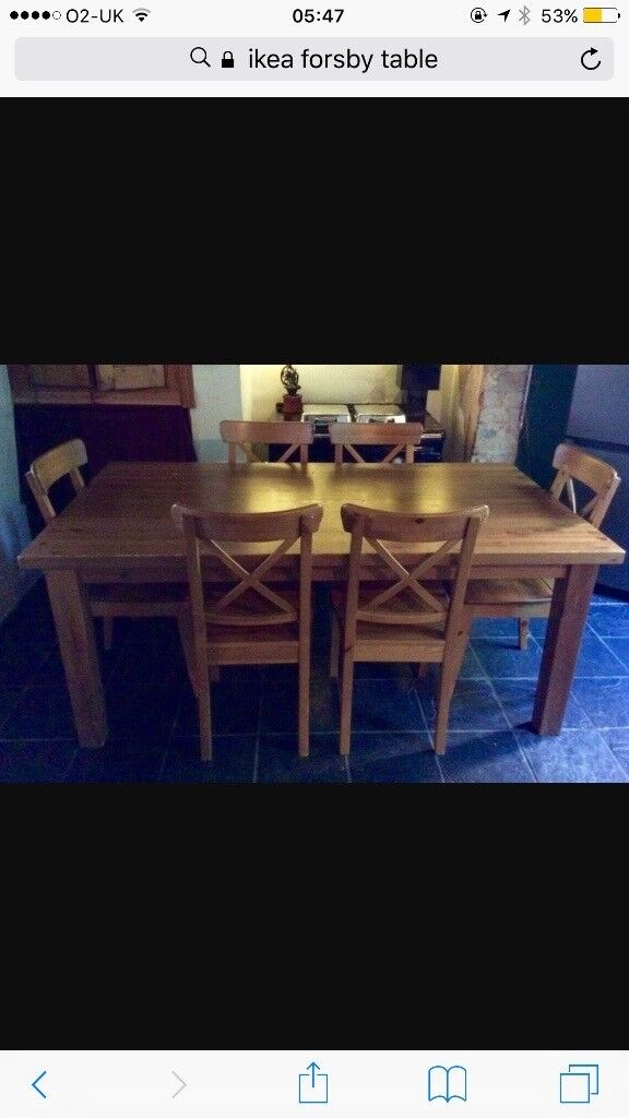 Ikea forsby table