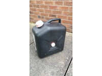 Black waste container, 23L for caravan waste disposal