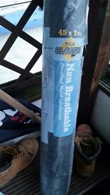 1 roll of non breathable non roofing felt brand new