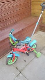 toddlers bike with stabilisers