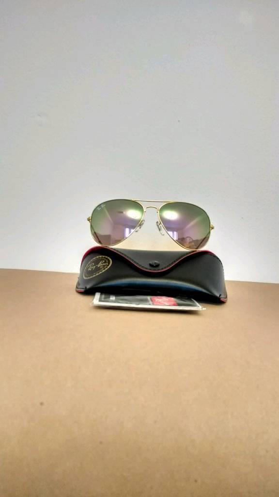 Rayban aviator sunglasses reflective