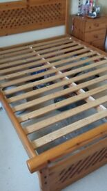 Solid wood double bed frame. SOLD