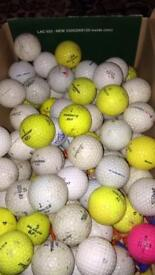 Golf balls, 75, mixed (used)