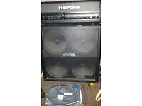 Crate 4x10 Cab and Hartke GT 100 Guitar Head.
