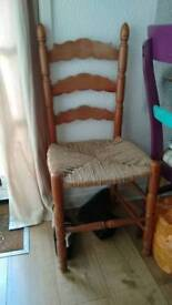 1 wicker dining chair