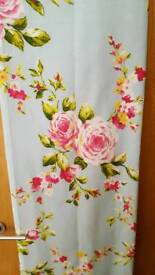 Floral curtains with matching tie backs