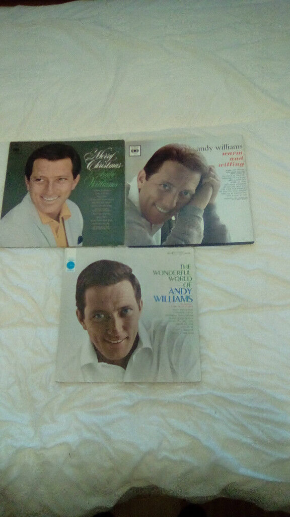 ANDY WILLIAMS-3 X 12.INCH VINYL LP'S (ONE IS A XMAS LP)-EX