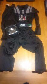 Darth Vader fancy dress 7-8Y