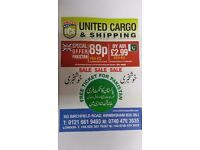 ** OFFER - £.89p/KG **FAST RELIABLE PARCEL SERVICE TO PAKISTAN**CHEAPEST IN UK