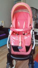 Baby girl pram/buggy 3in1
